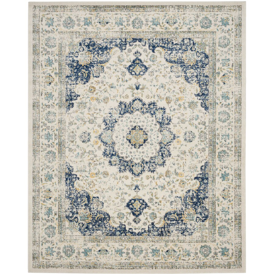 Safavieh Evoke Savoy Ivory/Blue Indoor Oriental Area Rug (Common: 7 x 9; Actual: 6.7-ft W x 9-ft L)