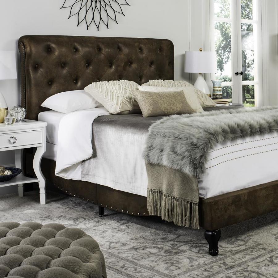 Safavieh Hathaway Coffee Full Bed Frame