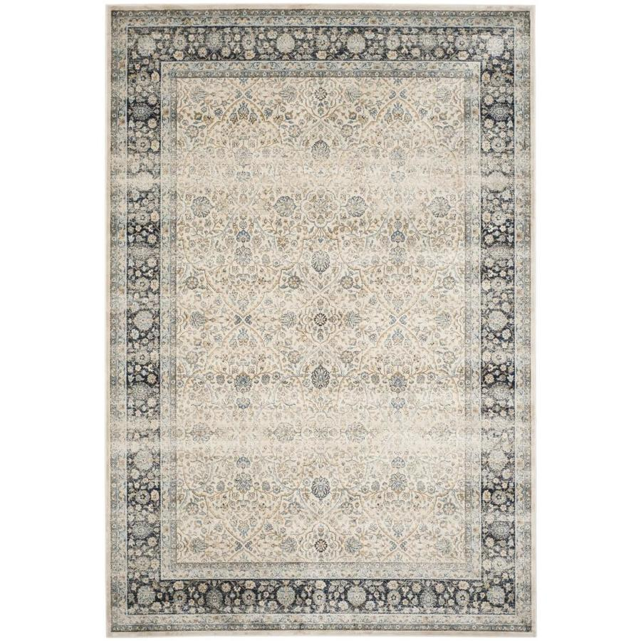 Safavieh Persian Garden Vintage Ivory/Navy Rectangular Indoor Machine-Made Area Rug (Common: 6 x 9; Actual: 6.5833-ft W x 9.1666-ft L)