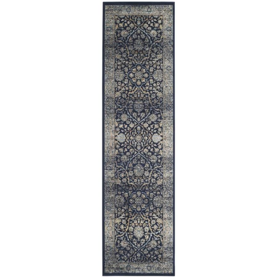 Safavieh Persian Garden Vintage Navy/Lightblue Rectangular Indoor Machine-Made Oriental Runner (Common: 2X8; Actual: 2.1666-ft W x 8-ft L x 0-ft Dia)