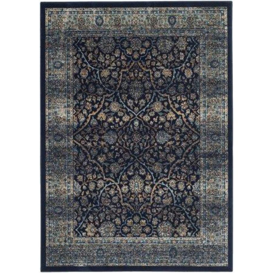 Safavieh Persian Garden Vintage Lazurus Navy/Light Blue Rectangular Indoor Machine-made Oriental Area Rug (Common: 5 x 7; Actual: 5.0833-ft W x 7.5833-ft L)