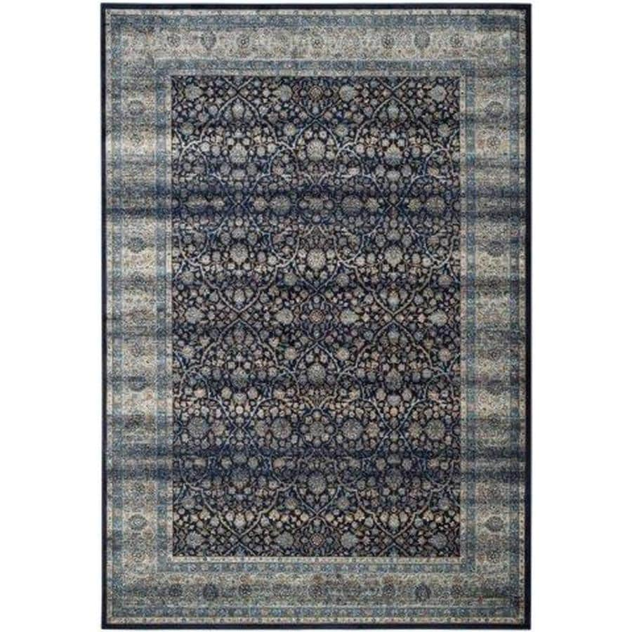 Safavieh Persian Garden Vintage Lazurus Navy/Light Blue Indoor Oriental Area Rug (Common: 8 x 11; Actual: 8-ft W x 11-ft L)