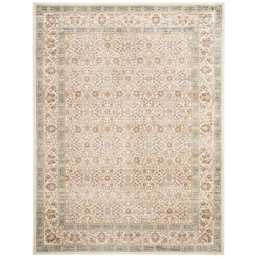 Safavieh Sevilla Sanibel Ivory/Multi Rectangular Indoor Machine-made Moroccan Area Rug (Common: 5 x 7; Actual: 5.1-ft W x 7.6-ft L)