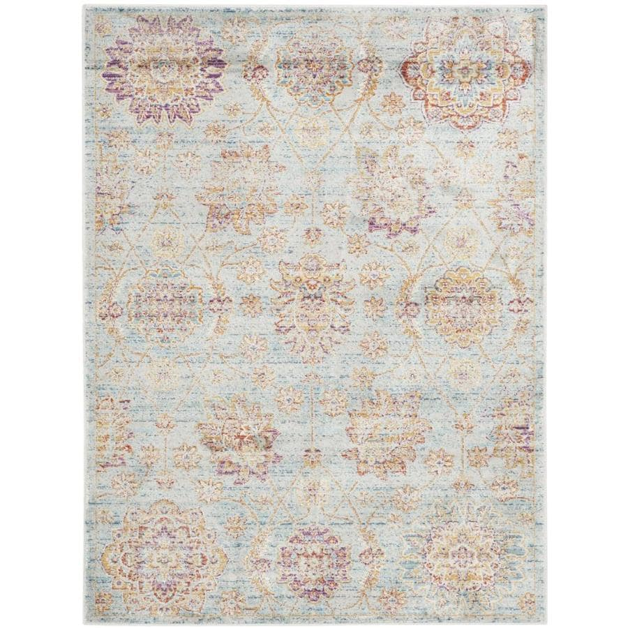 Safavieh Sevilla Grotto Light Blue Indoor Distressed Area Rug (Common: 4 x 6; Actual: 4-ft W x 5.6-ft L)