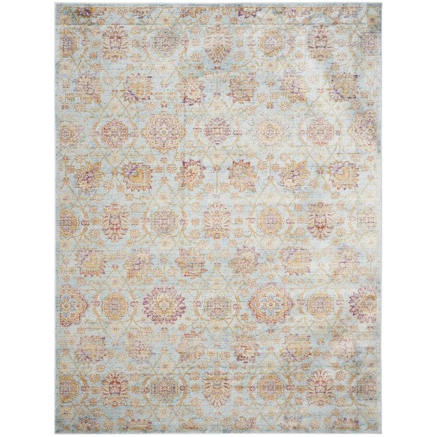 Safavieh Sevilla Grotto Light Blue/Multi Rectangular Indoor Machine-made Distressed Area Rug (Common: 8 X 11; Actual: 8-ft W x 11-ft L)