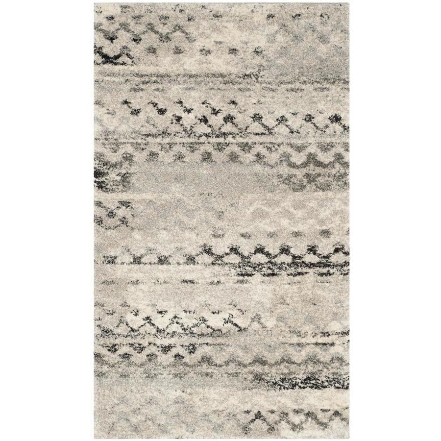 Safavieh Retro Cream/Gray Rectangular Indoor Machine-Made Moroccan Throw Rug (Common: 3 x 5; Actual: 3-ft W x 5-ft L)