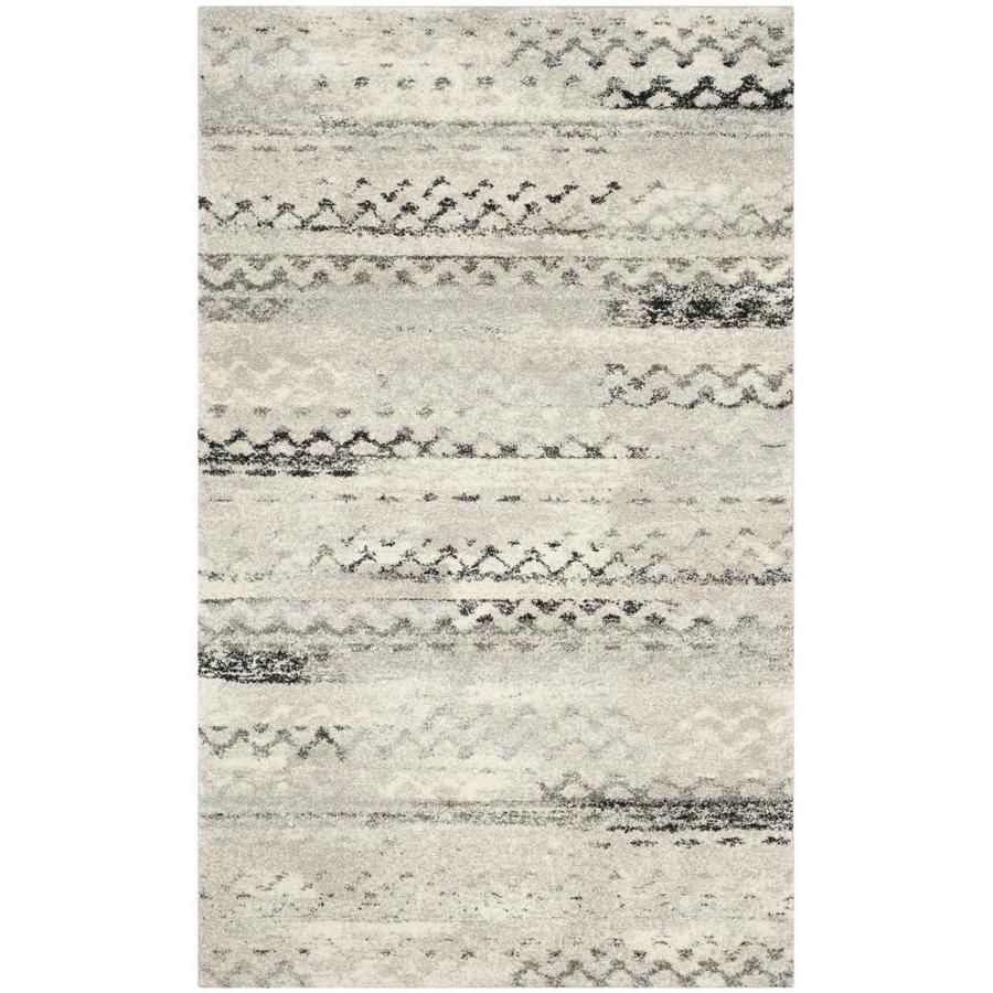 Safavieh Retro Tucson Cream/Gray Rectangular Indoor Machine-made Moroccan Area Rug (Common: 5 x 7; Actual: 5-ft W x 8-ft L)