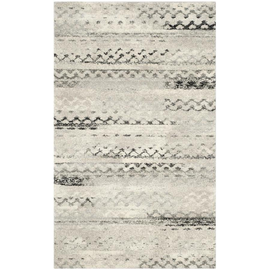 Safavieh Retro Tucson Cream/Gray Rectangular Indoor Machine-made Moroccan Area Rug (Common: 8 x 11; Actual: 8.75-ft W x 12-ft L)