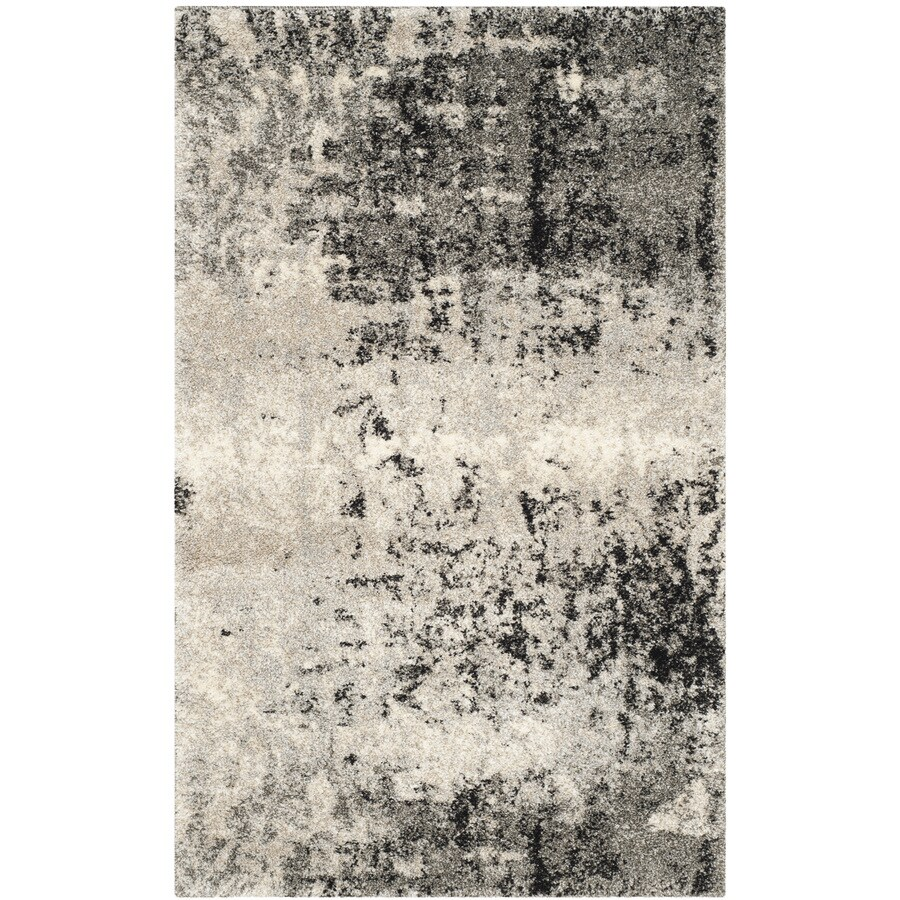 Safavieh Retro Isara Light Gray/Gray 2-ft 6-in x 4-ft