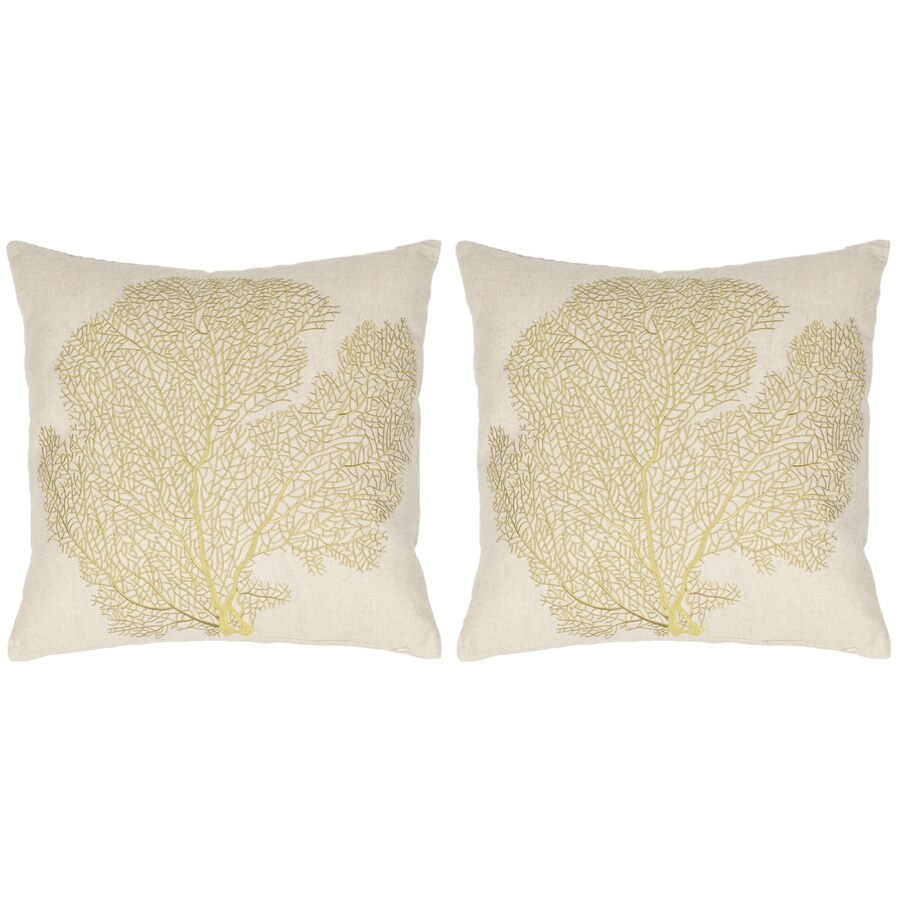 Safavieh Spice-Fan Coral 2-Piece 22-in W x 22-in L Beach Lime  Indoor Decorative Pillow