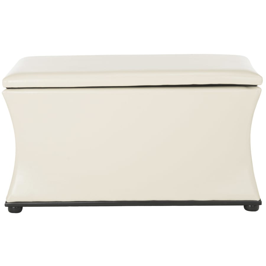 Safavieh Aroura Casual Cream/Leather Storage Bench