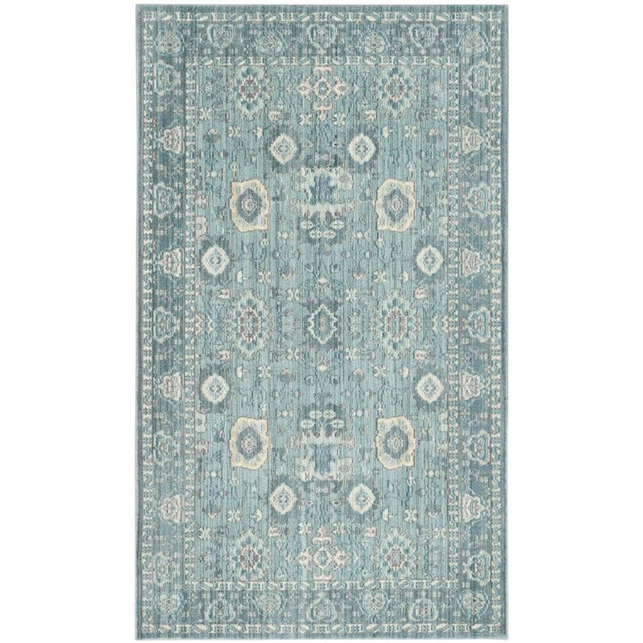 Safavieh Valencia Alpine/Multi Rectangular Indoor Machine-Made Distressed Throw Rug (Common: 3 x 5; Actual: 3-ft W x 5-ft L)