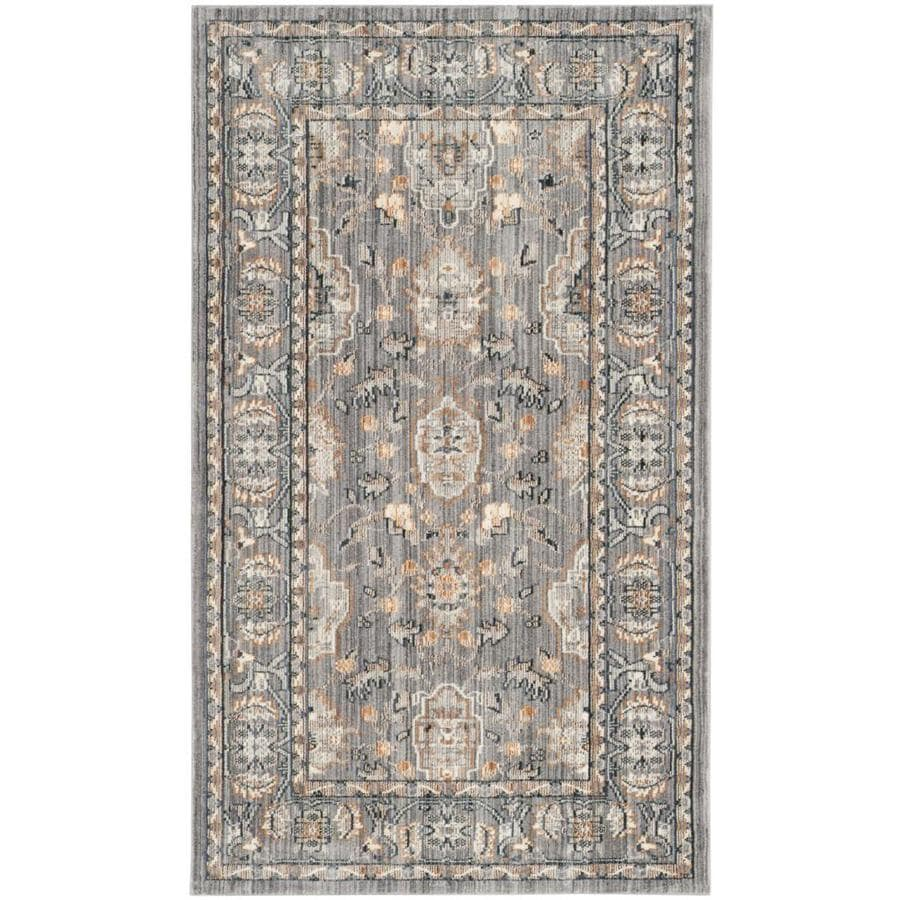 Safavieh Valencia Asher Mauve/Mauve Indoor Distressed Throw Rug (Common: 3 x 5; Actual: 3-ft W x 5-ft L)