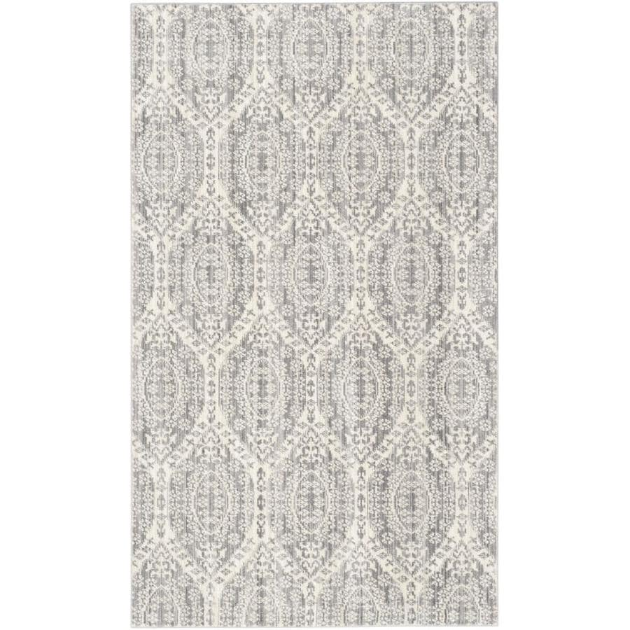 Safavieh Valencia Maxine Mauve/Cream Indoor Distressed Throw Rug (Common: 3 x 5; Actual: 3-ft W x 5-ft L)