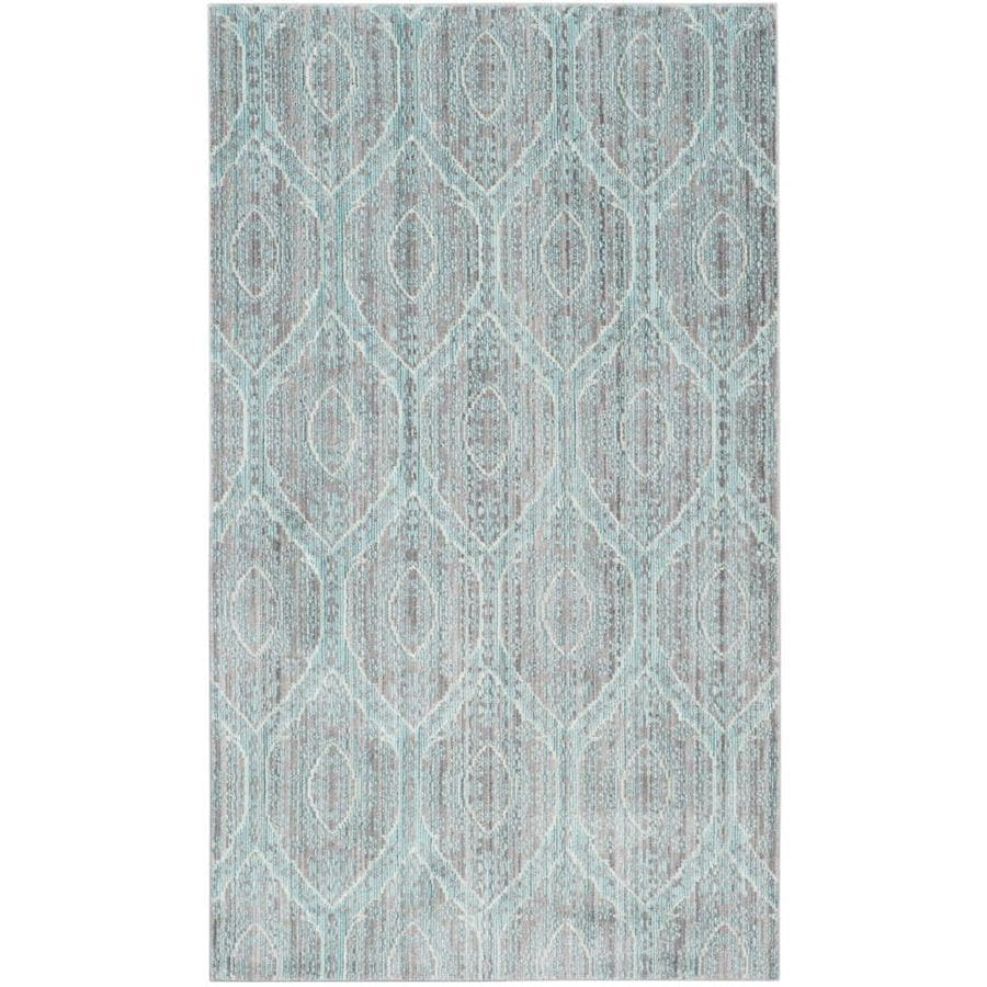 Safavieh Valencia Maxine Mauve/Alpine Indoor Distressed Throw Rug (Common: 3 x 5; Actual: 3-ft W x 5-ft L)