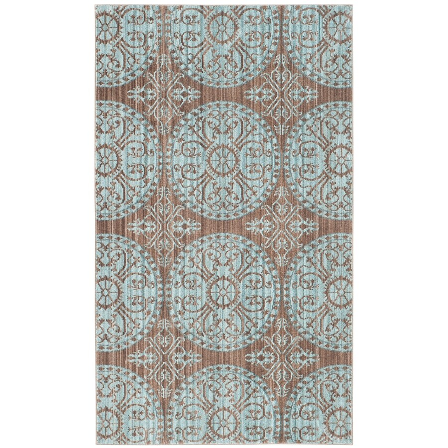 Safavieh Valencia Brown/Alpine Rectangular Indoor Machine-Made Distressed Throw Rug (Common: 3 x 5; Actual: 3-ft W x 5-ft L)