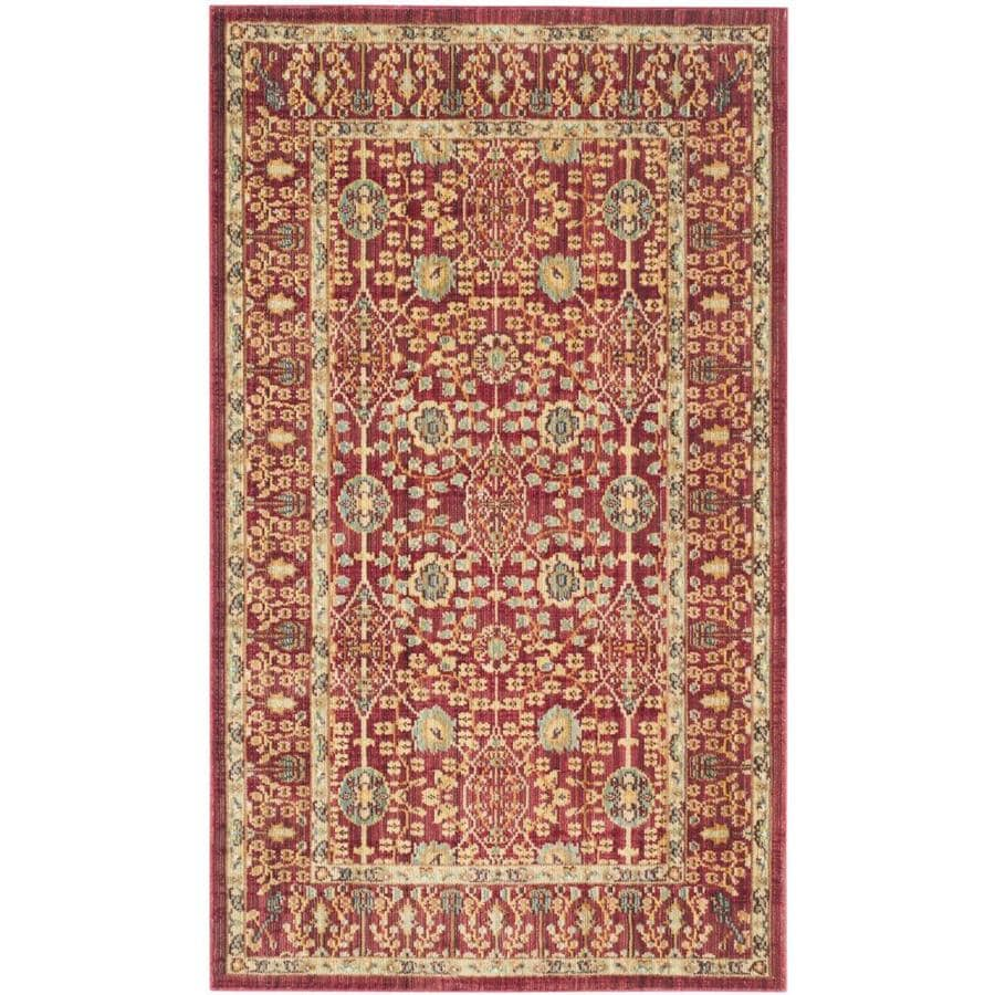 Safavieh Valencia Red/Red Rectangular Indoor Machine-Made Throw Rug
