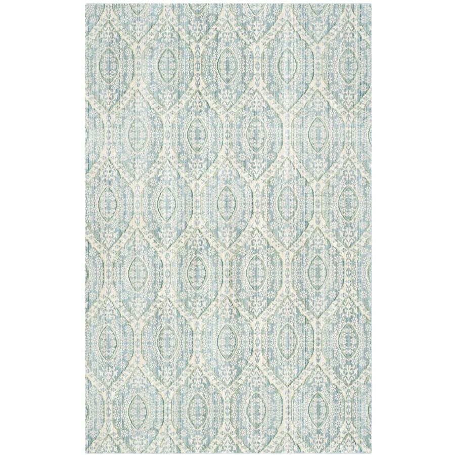 Safavieh Valencia Maxine Alpine/Cream Indoor Distressed Throw Rug (Common: 3 x 5; Actual: 3-ft W x 5-ft L)