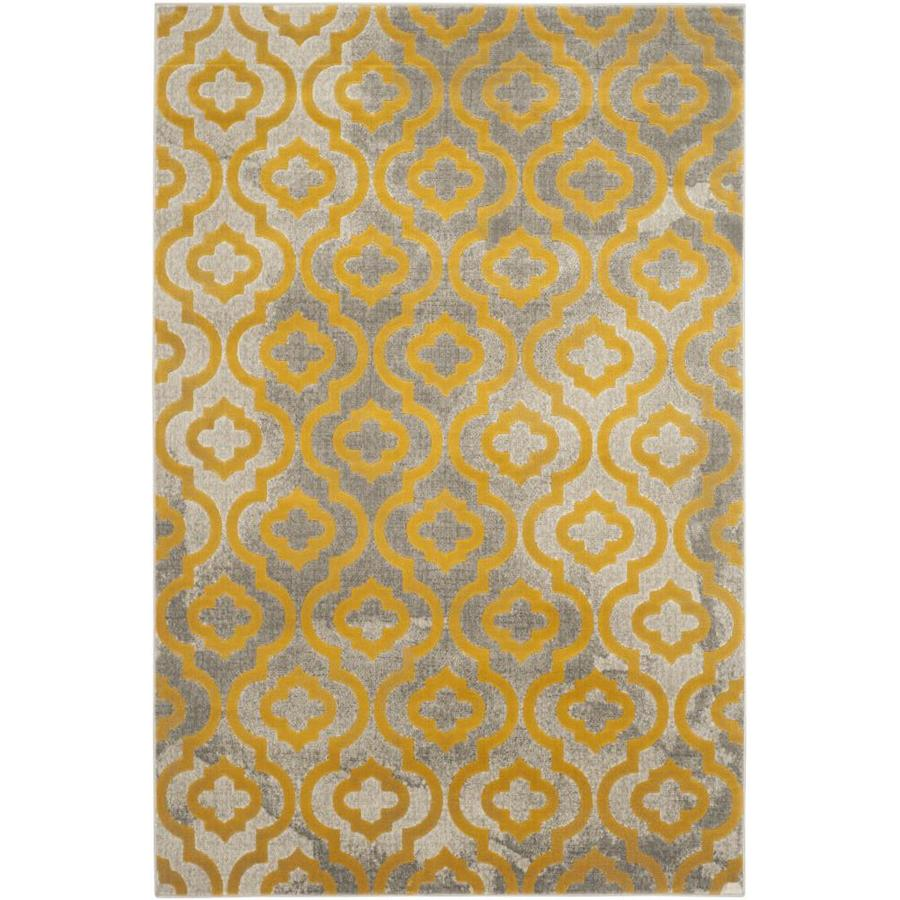 Safavieh Porcello Gray/Yellow Rectangular Indoor Machine-Made Moroccan Area Rug (Common: 5 x 7; Actual: 5.167-ft W x 7.5-ft L)