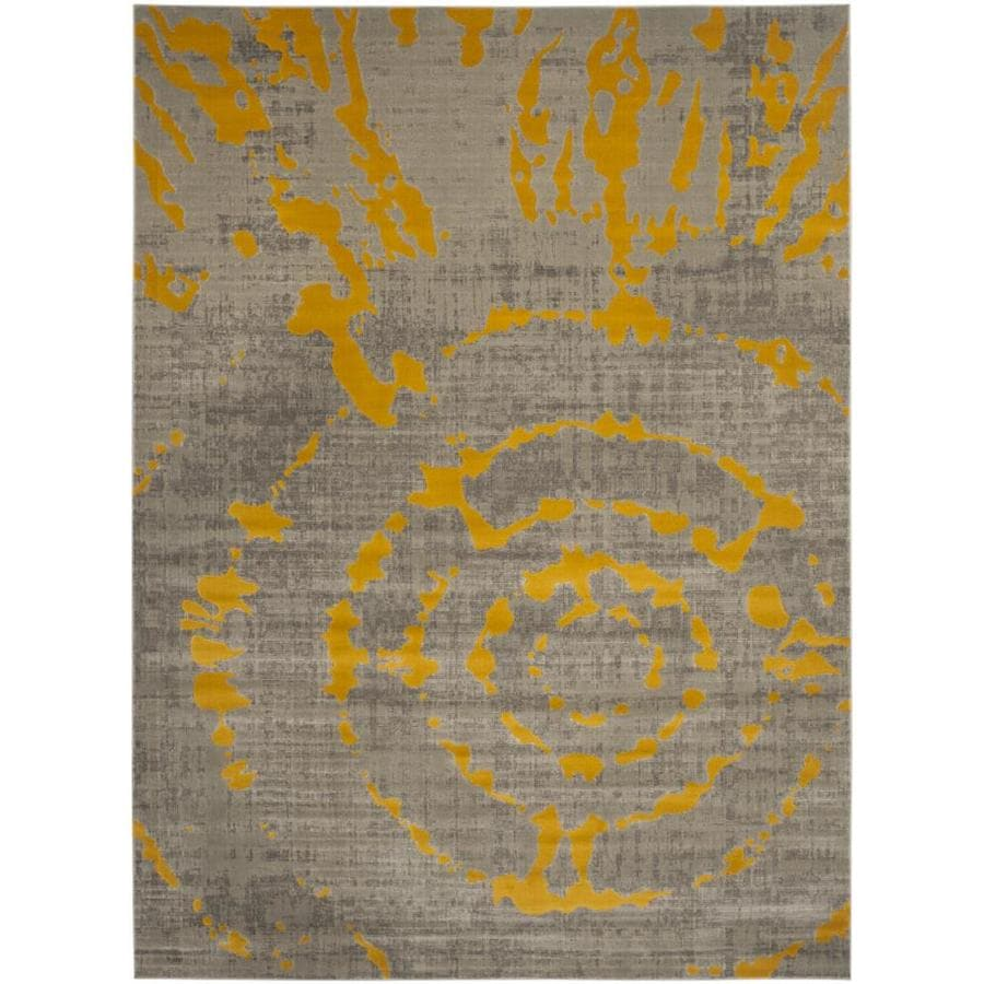 Safavieh Porcello Gray/Yellow Rectangular Indoor Machine-Made Distressed Area Rug (Common: 8X11; Actual: 8.167-ft W x 11-ft L x 0-ft Dia)