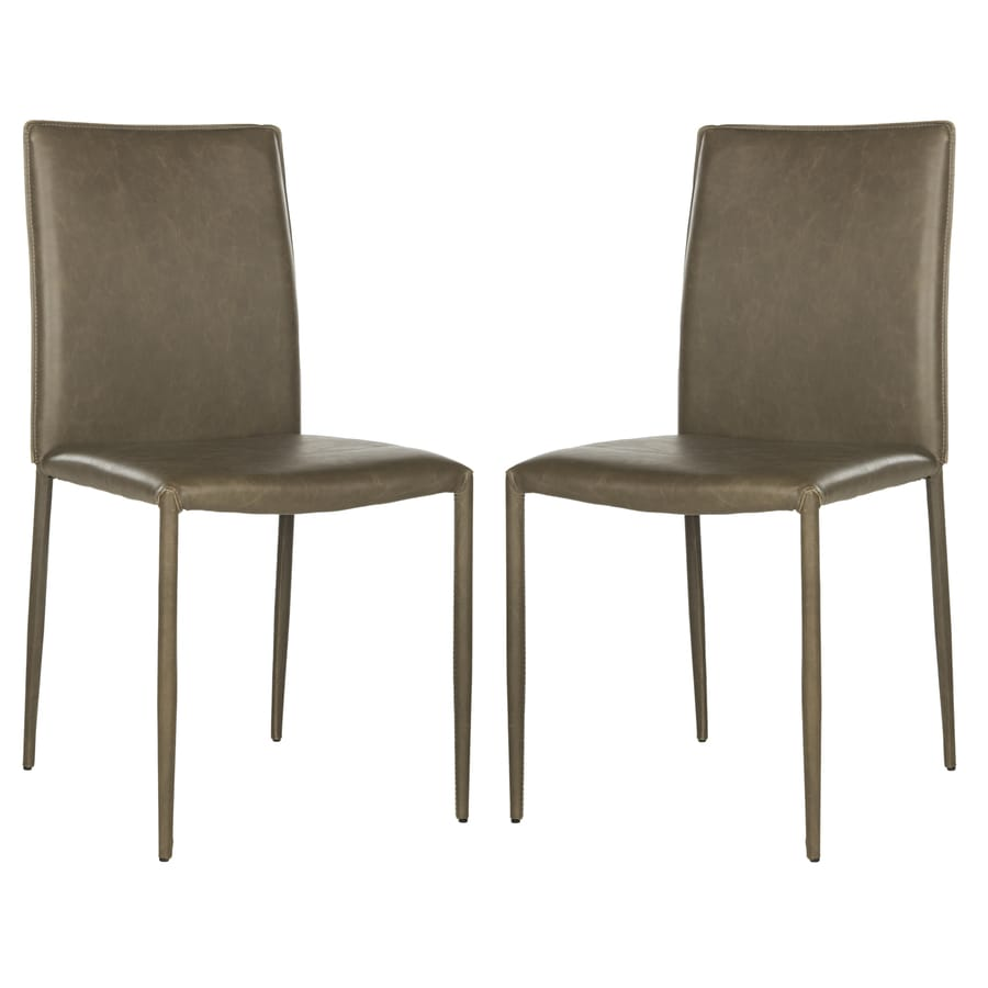 Safavieh Set of 2 Fox Antique Brown Side Chairs