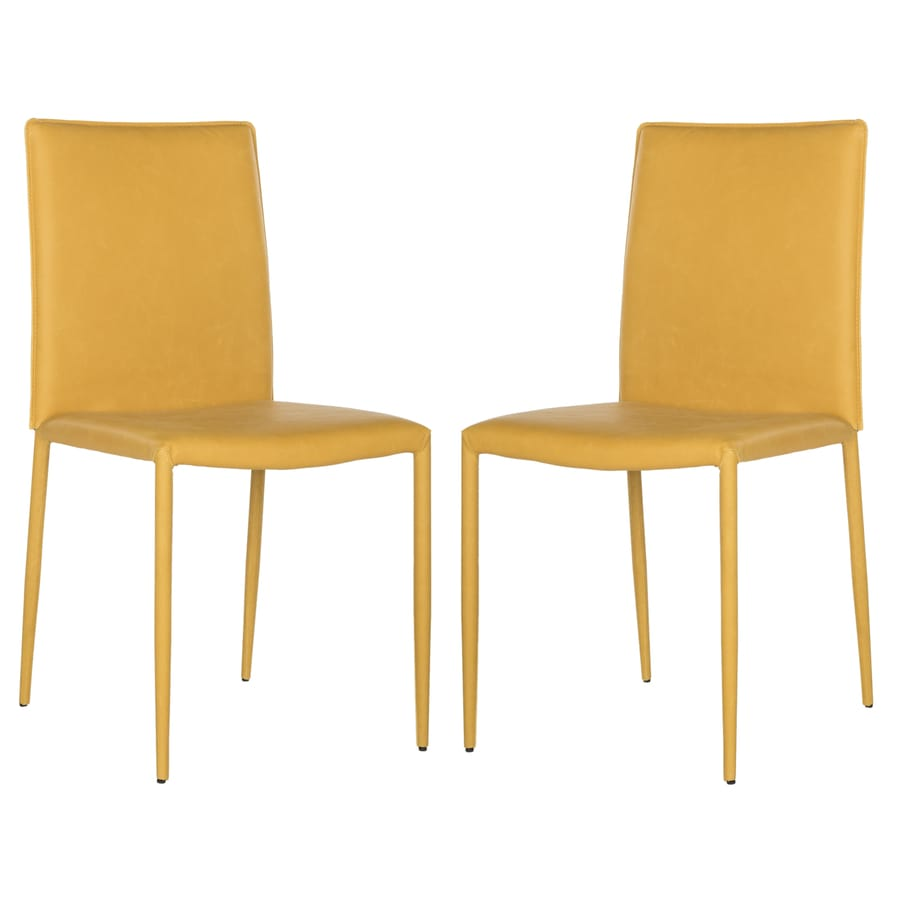 Safavieh Set of 2 Fox Antique Yellow Side Chairs