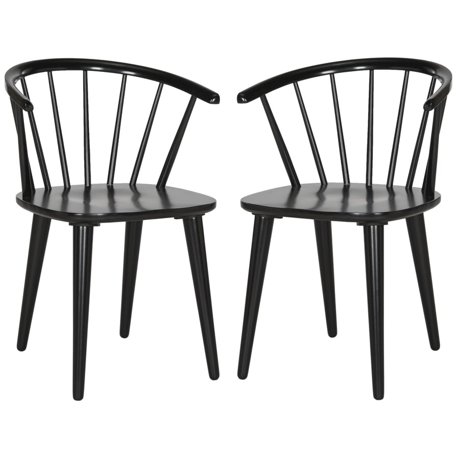 Safavieh Set of 2 American Home Black Side Chairs
