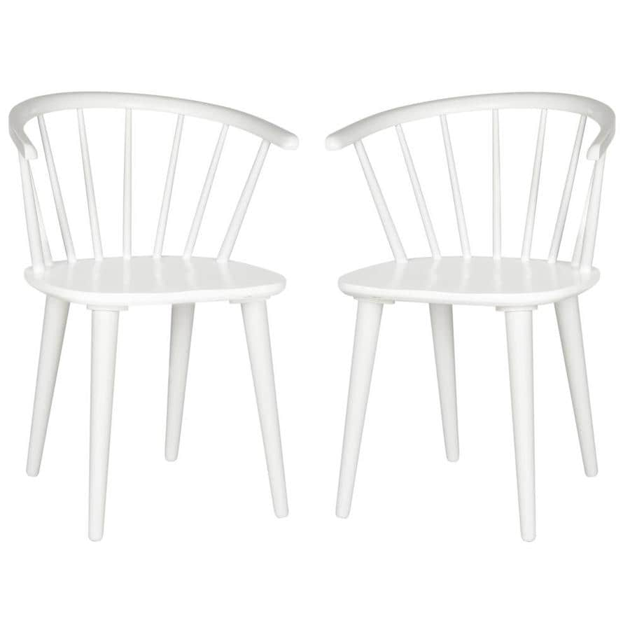 Safavieh Set of 2 American Home White Side Chairs