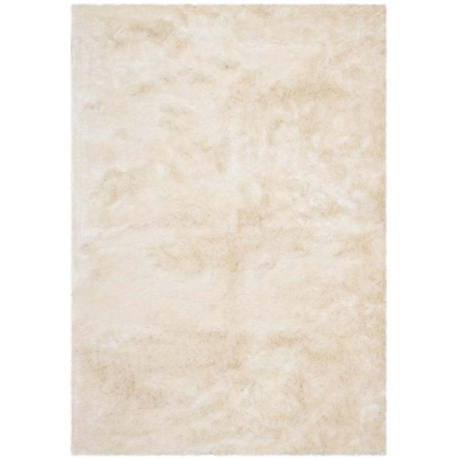 Safavieh Paris Shag Ivory Indoor Handcrafted Area Rug (Common: 5 x 8; Actual: 5-ft W x 8-ft L)
