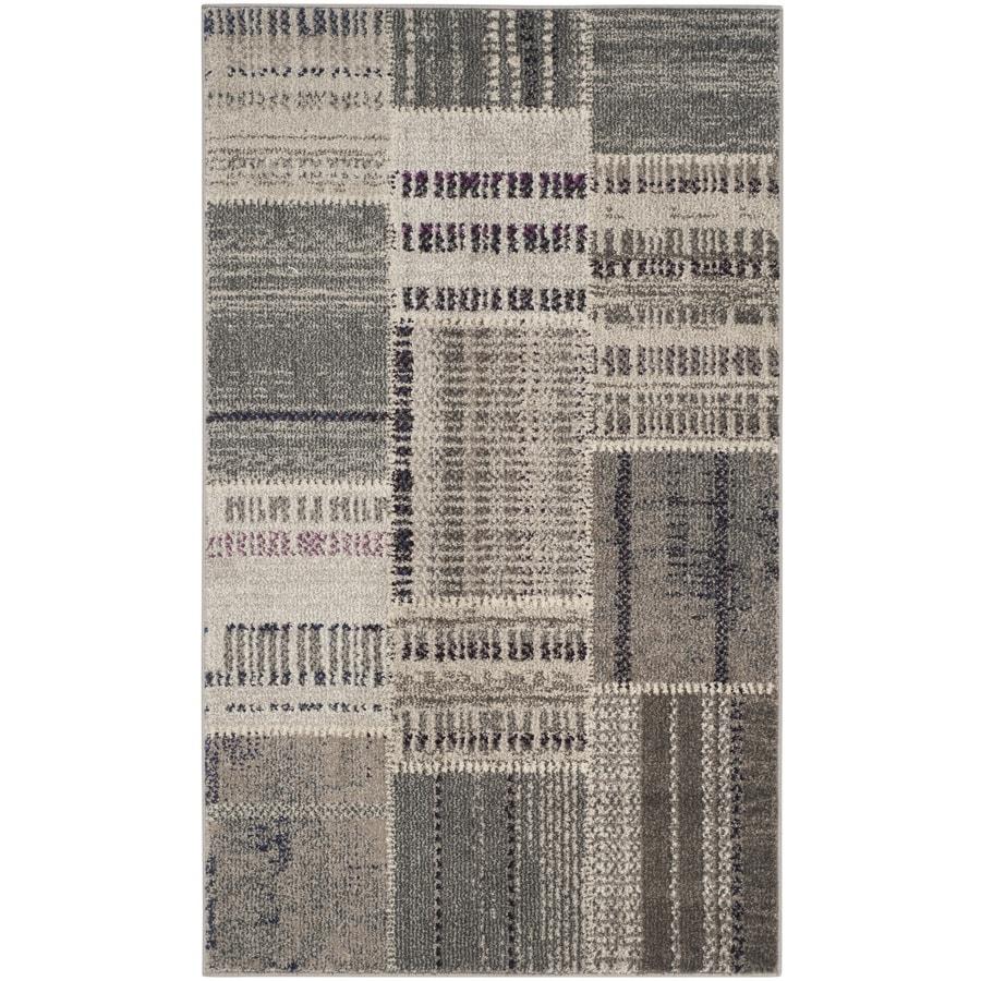 Safavieh Monaco Malena Gray/Multi Rectangular Indoor Machine-made Lodge Throw Rug (Common: 3 x 5; Actual: 3-ft W x 5-ft L)
