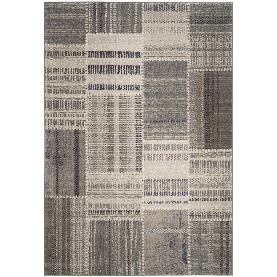 Safavieh Monaco Malena Gray/Multi Rectangular Indoor Machine-made Lodge Area Rug (Common: 4 x 6; Actual: 4-ft W x 5.6-ft L)