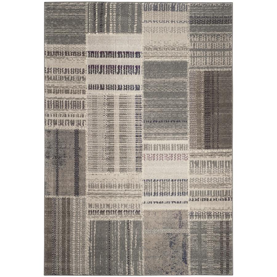 Safavieh Monaco Gray/Multi Rectangular Indoor Machine-Made Distressed Area Rug (Common: 5 x 7; Actual: 5.083-ft W x 7.583-ft L)