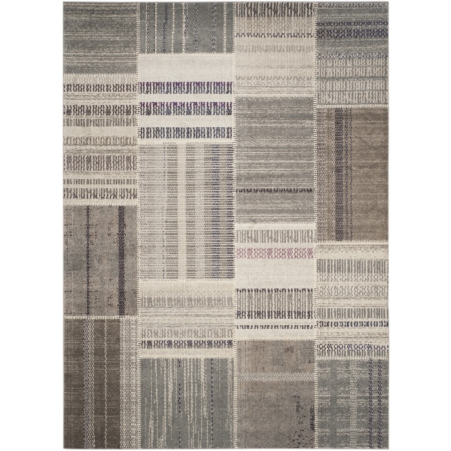 Safavieh Monaco Gray/Multi Rectangular Indoor Machine-Made Lodge Area Rug (Common: 6 x 9; Actual: 6.583-ft W x 9.166-ft L x 0-ft Dia)