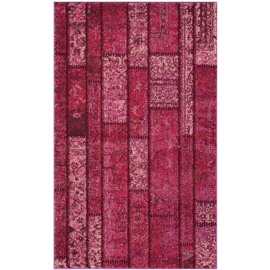 Safavieh Monaco Adum Pink/Multi Rectangular Indoor Machine-made Area Rug (Common: 4 x 6; Actual: 4-ft W x 5.6-ft L)