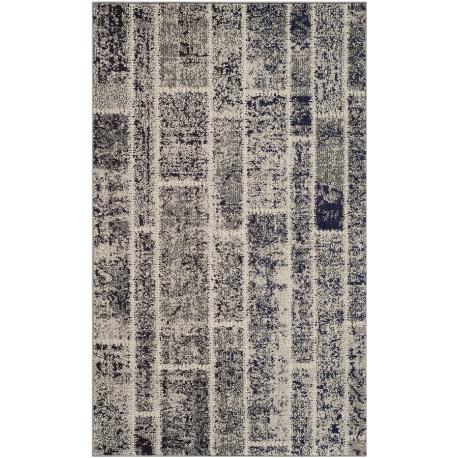 Safavieh Monaco Adum Gray Rectangular Indoor  Distressed Throw Rug (Common: 3 x 5; Actual: 3-ft W x 5-ft L)