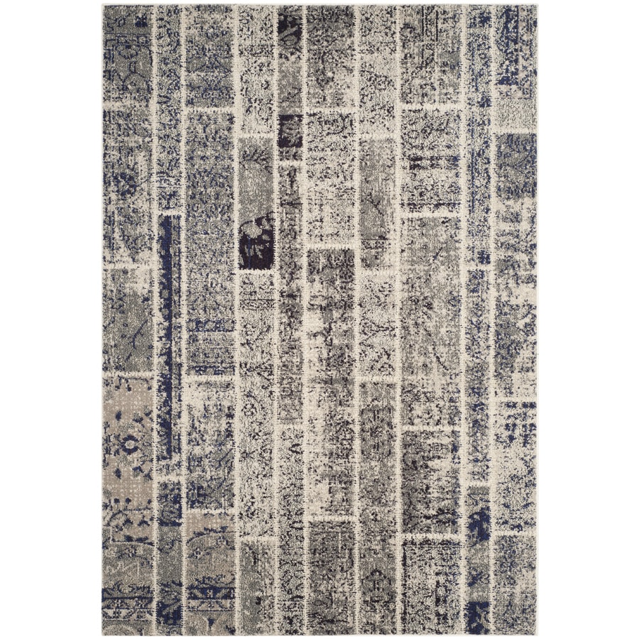 Safavieh Monaco Adum Gray/Multi Rectangular Indoor Machine-made Distressed Area Rug (Common: 5 x 7; Actual: 5.1-ft W x 7.6-ft L)