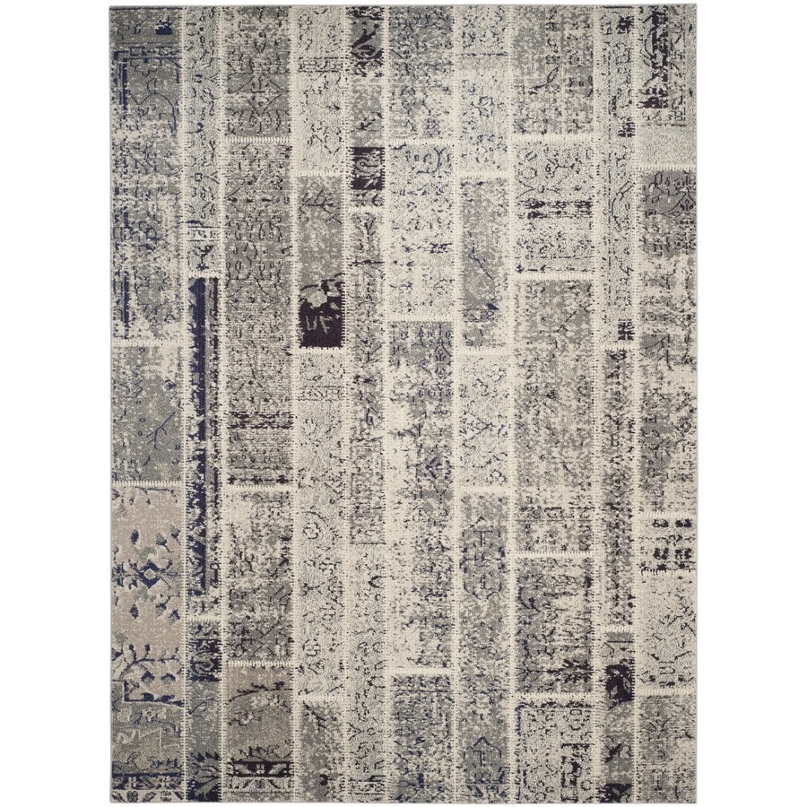 Safavieh Monaco Gray/Multi Rectangular Indoor Machine-Made Distressed Area Rug (Common: 6 x 9; Actual: 6.583-ft W x 9.166-ft L)