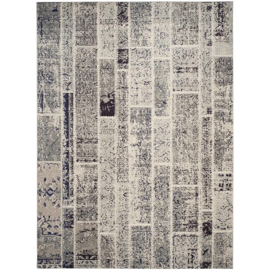 Safavieh Monaco Gray/Multi Rectangular Indoor Machine-Made Distressed Area Rug (Common: 9 x 12; Actual: 9-ft W x 12-ft L x 0-ft Dia)