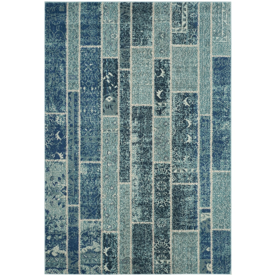 Safavieh Monaco Blue/Multi Rectangular Indoor Machine-Made Area Rug (Common: 4 x 5; Actual: W x L x 0-ft Dia)