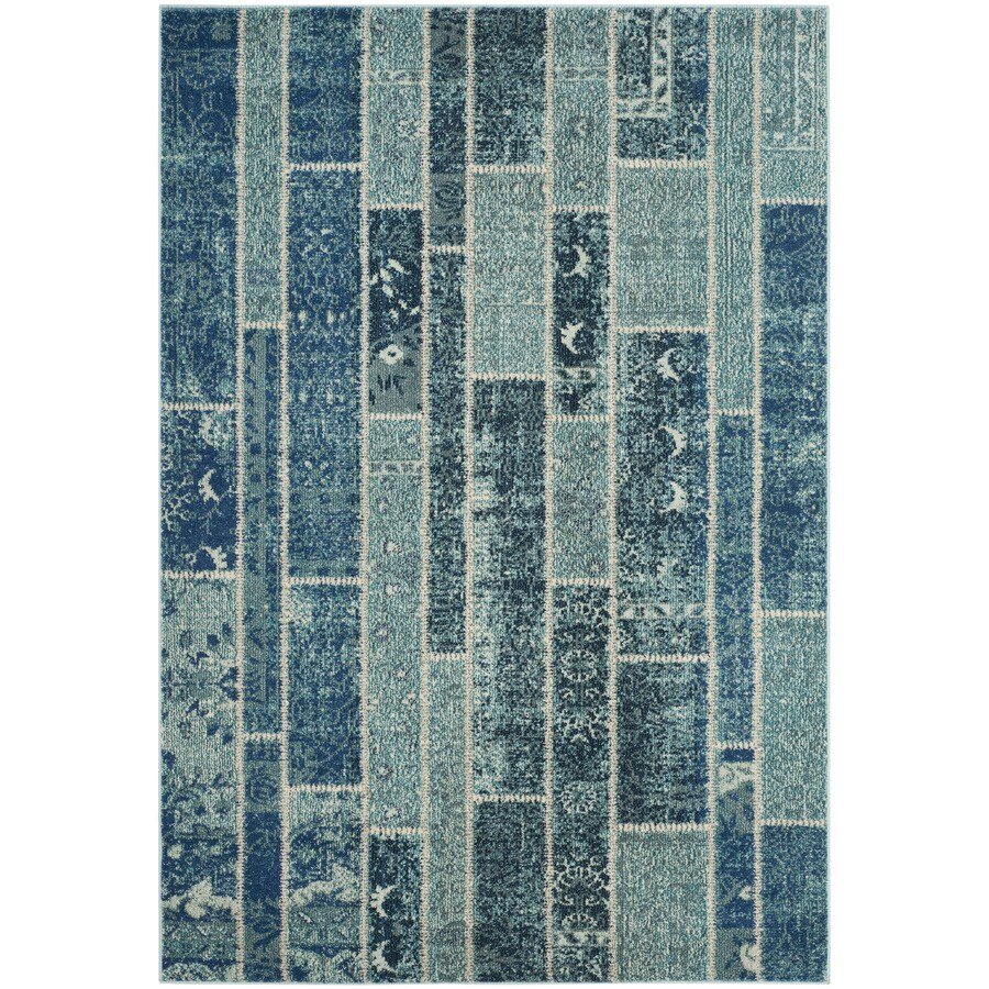 Safavieh Monaco Adum Blue/Multi Rectangular Indoor Machine-made Distressed Area Rug (Common: 5 x 7; Actual: 5.1-ft W x 7.6-ft L)