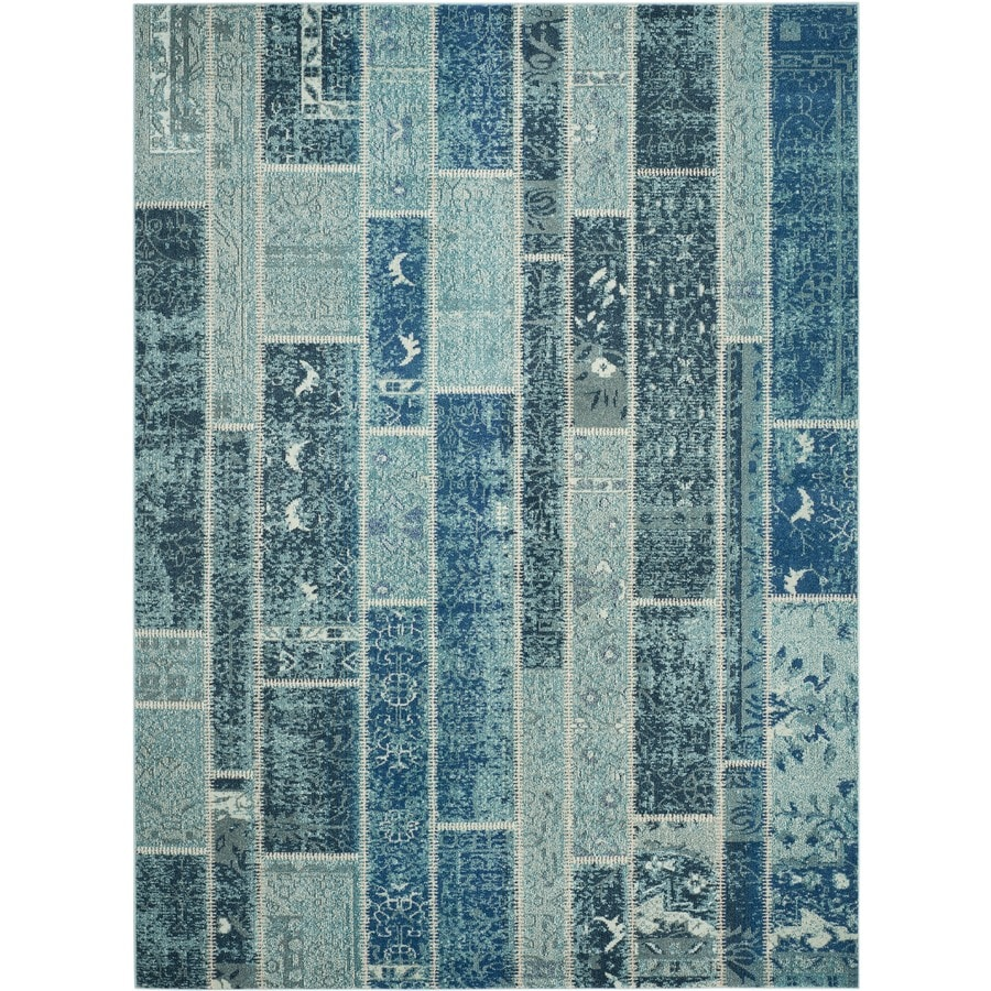 Safavieh Monaco Adum Blue/Multi Rectangular Indoor Machine-made Distressed Area Rug (Common: 8 x 11; Actual: 8-ft W x 11-ft L)