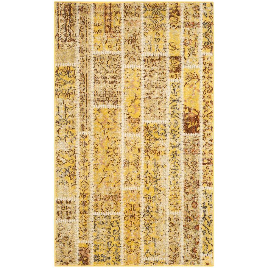 Safavieh Monaco Adum Yellow Rectangular Indoor Machine-Made Throw Rug (Common: 3 x 5; Actual: 3-ft W x 5-ft L)
