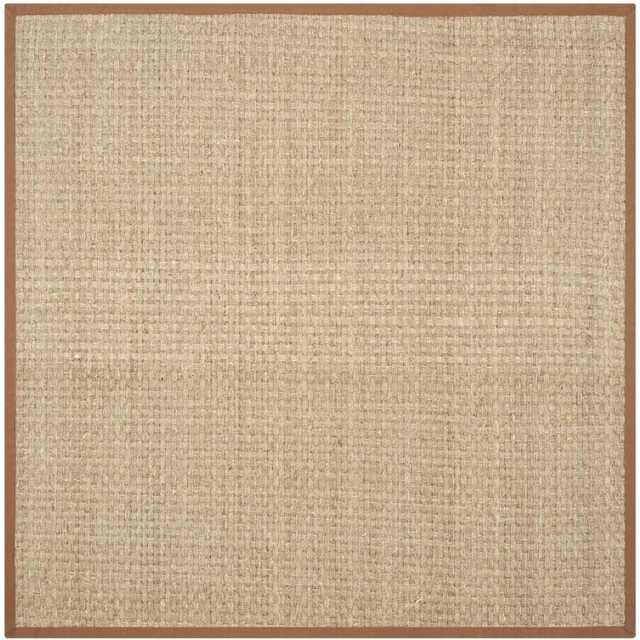 Safavieh Natural Fiber Hampton Natural/Brown Square Indoor Machine-made Coastal Area Rug (Common: 10 x 10; Actual: 10-ft W x 10-ft L)