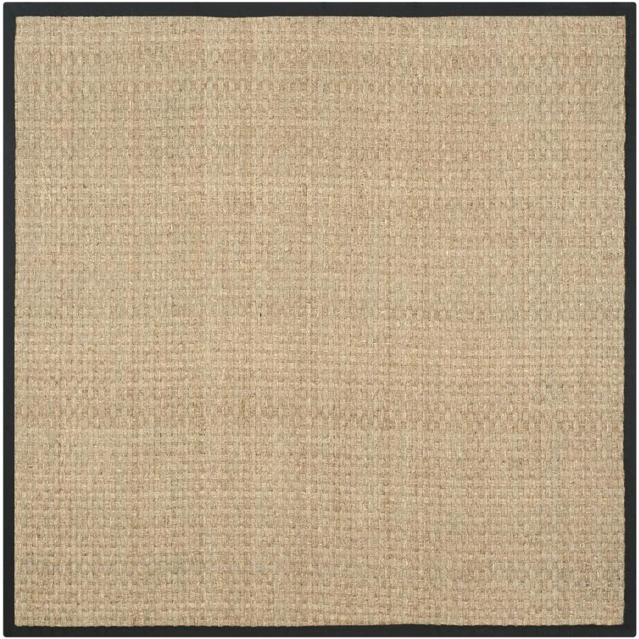 Safavieh Natural Fiber Hampton Natural/Black Square Indoor Coastal Area Rug (Common: 10 x 10; Actual: 10-ft W x 10-ft L)