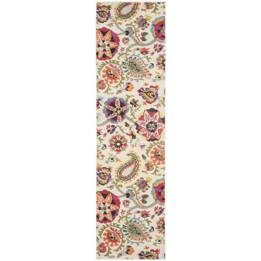 Safavieh Monaco Serenity Ivory Indoor Nature Runner (Common: 2 x 12; Actual: 2.2-ft W x 12-ft L)