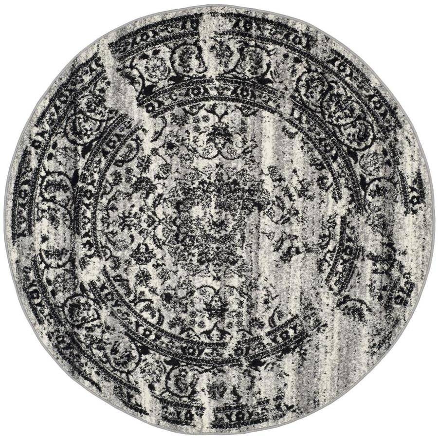 Safavieh Adirondack Silver/Black Round Indoor Machine-Made Lodge Area Rug (Common: 10 x 10; Actual: 10-ft W x 10-ft L x 10-ft dia)