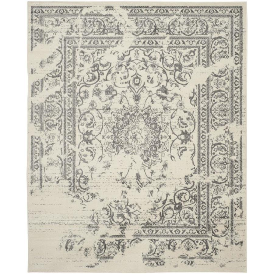 Safavieh Adirondack Plaza Ivory/Silver Rectangular Indoor Machine-made Lodge Area Rug (Common: 12 x 18; Actual: 12-ft W x 18-ft L)