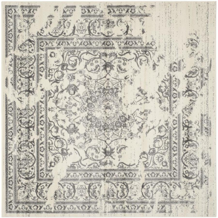 Safavieh Adirondack Ivory/Silver Square Indoor Machine-Made Lodge Area Rug (Common: 10 x 10; Actual: 10-ft W x 10-ft L x 0-ft Dia)
