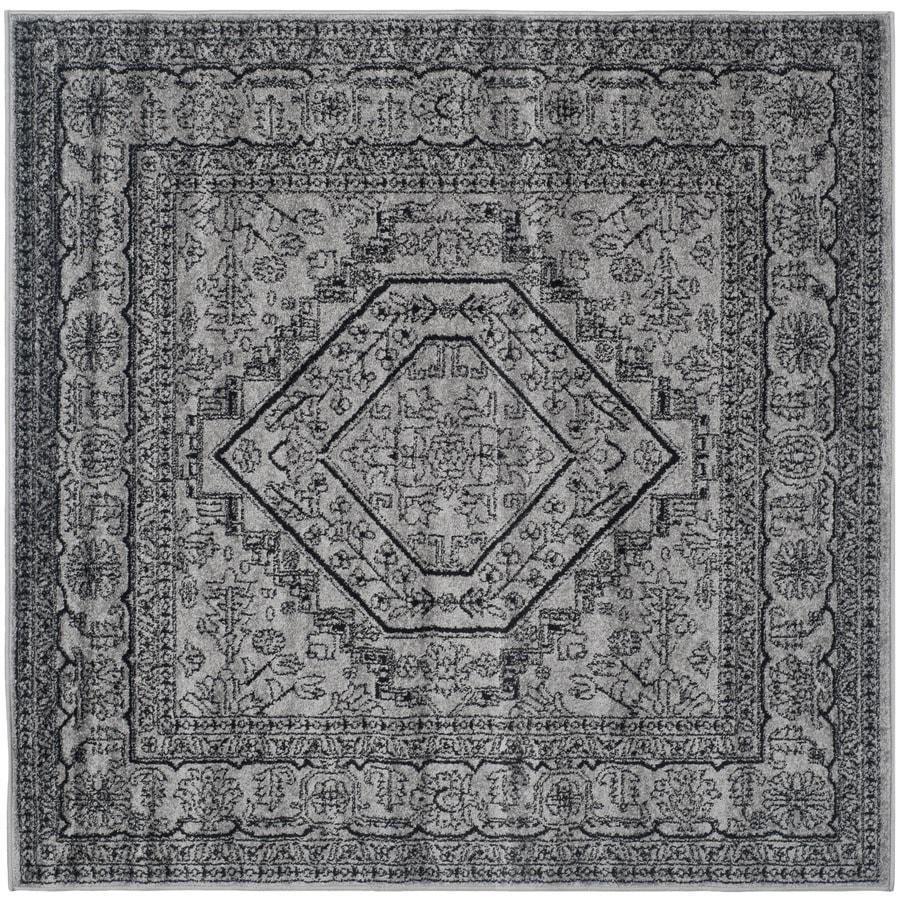 Safavieh Adirondack Herati Silver/Black Square Indoor Lodge Area Rug (Common: 10 x 10; Actual: 10-ft W x 10-ft L)