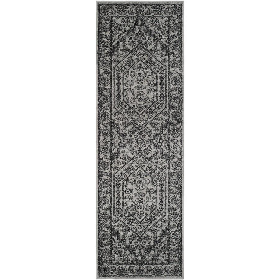 Safavieh Adirondack Herati Silver/Black Indoor Lodge Runner (Common: 2 x 18; Actual: 2.5-ft W x 18-ft L)